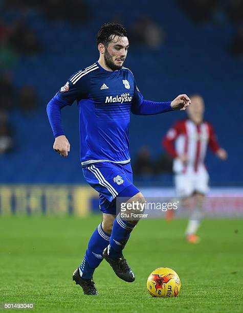 Tony Watt of Cardiff in action during the Sky Bet Championship match between Cardiff City and Brentford at Cardiff City Stadium on December 15 2015...