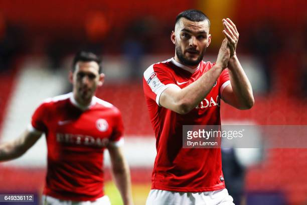Tony Watt of Charlton Athletic celebrates after the Sky Bet League One match between Charlton Athletic and Scunthorpe United at The Valley on March 7...