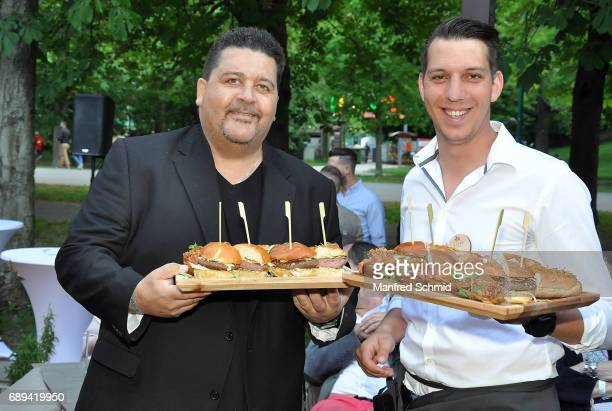 Tony Wegas poses during the 'Die Allee zum Genuss' restaurant opening party on May 24, 2017 in Vienna, Austria