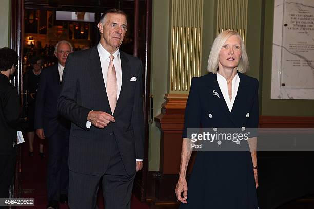 Tony Whitlam departs following the state memorial service for former Australian Prime Minister Gough Whitlam at Sydney Town Hall on November 5 2014...