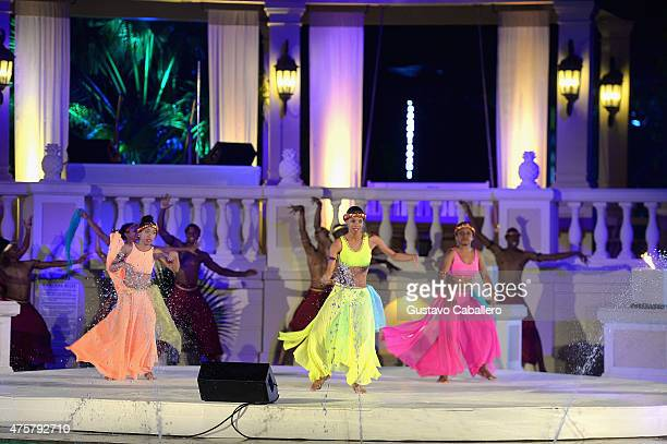 Tony Wilson Dance Company performed Calabash A Kaleidoscope of Beauty Passion and Power at Sandals Ochi Beach Resort on June 1 2015 in Ocho Rios...