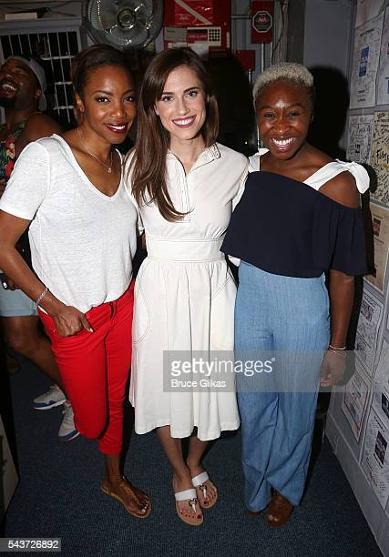 Tony Winner Heather Headley Tony Winner Cynthia Erivo and Allison Williams pose backstage at the hit musical 'The Color Purple' on Broadway at The...