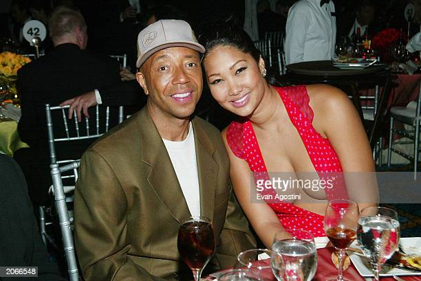 Tony winner Russell Simmons and wife Kimora-Lee Simmons attend the 2003 Tony Awards Dinner and After-party at the Marriott Marquis Hotel June 8, 2003...