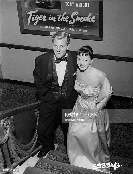 Tony Wright and Janet Munro show up for the premiere of the film 'Tiger In The Smoke' 1956