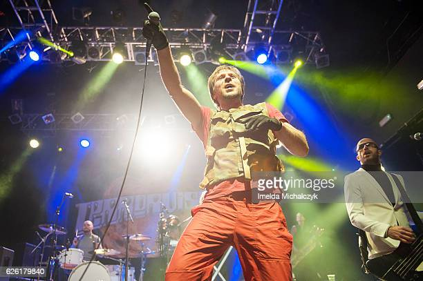 Tony Wright and Leigh Marklew of Terrorvision perform at KOKO on November 27 2016 in London England