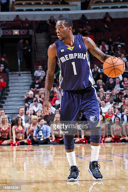 Tony Wroten of the Memphis Grizzlies controls the ball against the Chicago Bulls on October 9 2012 at the United Center in Chicago Illinois NOTE TO...