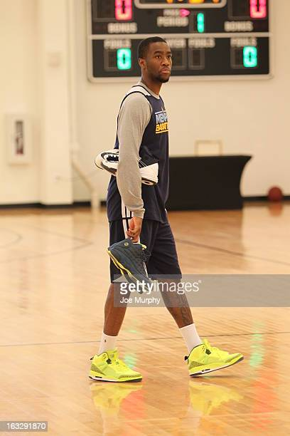 Tony Wroten of the Memphis Grizzlies during a team practice on March 2 2013 at JW Marriott Marquis in Miami Florida NOTE TO USER User expressly...