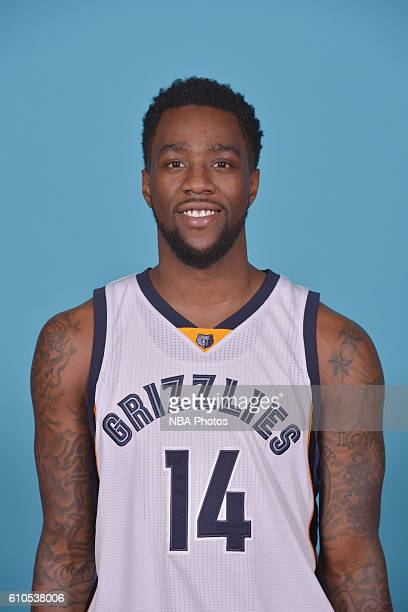 Tony Wroten of the Memphis Grizzlies poses for a head shot during the 20162017 Memphis Grizzlies Media Day on September 26 2016 at FedExForum in...