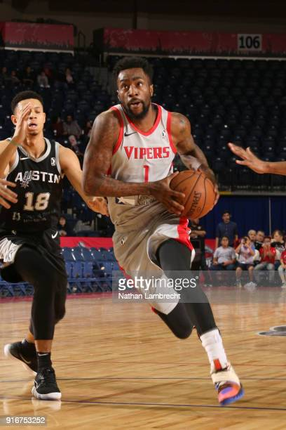 Tony Wroten of the Rio Grande Valley Vipers handles the ball against the Austin Spurs during the NBA GLeague on February 10 2018 at State Farm Arena...