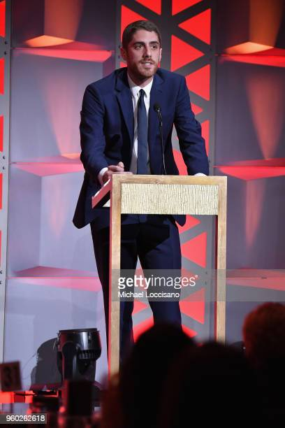 Tony Yacenda accepts the Entertainment Award on behalf of 'American Vandal' on stage during The 77th Annual Peabody Awards Ceremony at Cipriani Wall...