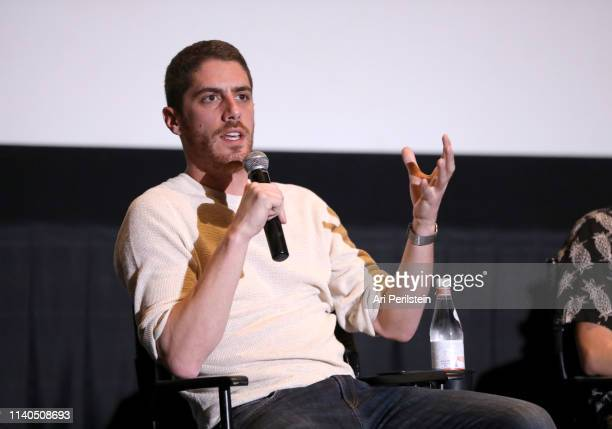 Tony Yacenda speaks onstage during the American Vandal QA premiere reception on April 04 2019 in Hollywood California