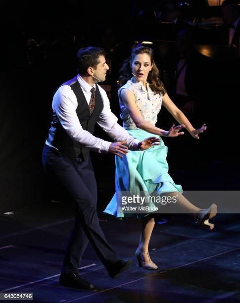 Tony Yazbeck and Laura Osnes during the Manhattan Concert Productions 25th Anniversary concert performance of Crazy for You at David Geffen Hall...