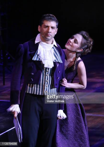 Tony Yazbeck and Laura Osnes performing during the MCP Production of 'The Scarlet Pimpernel' Concert at the David Geffen Hall on February 18 2019 in...