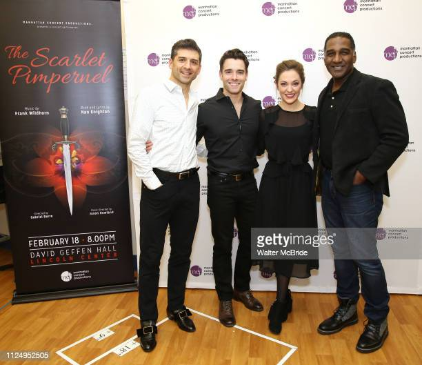 Tony Yazbeck Corey Cott Laura Osnes and Norm Lewis attend the Meet the Cast of The MCP Production of The Scarlet Pimpernel at Pearl Rehearsal studio...