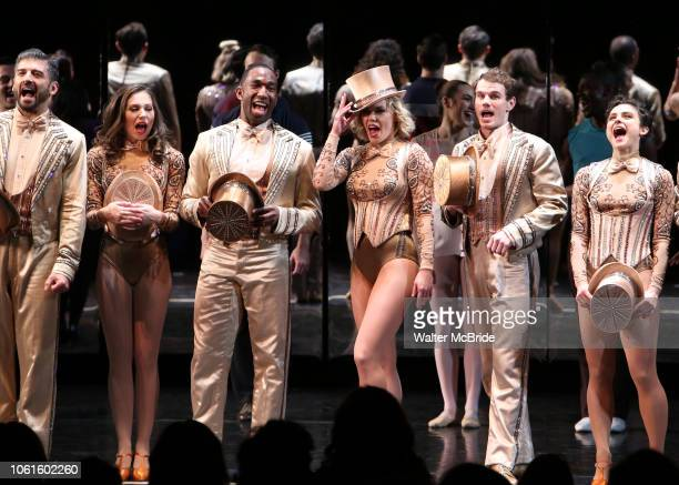Tony Yazbeck Jenna Nicole Schoen Anthony Wayne Robyn Hurder Jay ArmstrongJohnson and Melanie Moore during Curtain Call for the New York City Center...