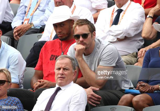 Tony Yoka and Alexander Skarsgard during the men's final on day 15 of the 2017 French Open second Grand Slam of the season at Roland Garros stadium...