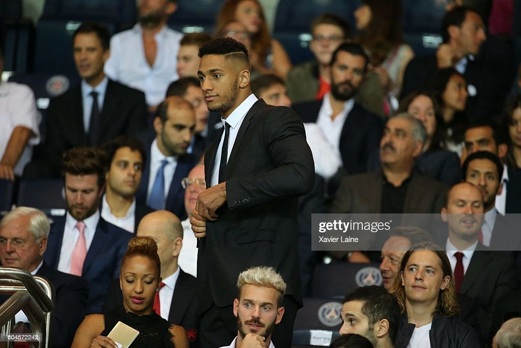 Tony Yoka attends the UEFA Champions League group A between Paris Saint-Germain and Arsenal FC at Parc Des Princes on september 13, 2016 in Paris, France.