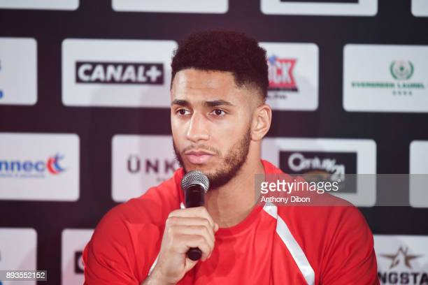 Tony Yoka during press conference ahead the fight against Ali Baghouz on December 15 2017 in BoulogneBillancourt France
