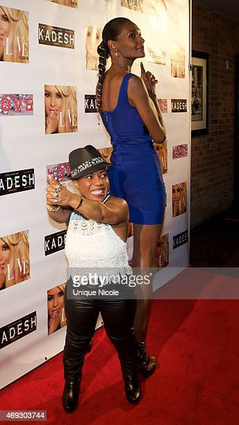 Tonya Banks and Tania Zee attend the Private Listening Party For Kadesh aka Desiree Coleman Jackson Hosted By ESPN Sports Analyst Mark Jackson at...