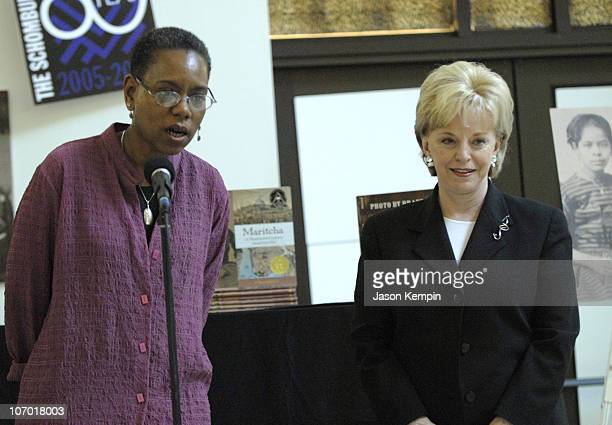 Tonya Bolden and Lynne Cheney during Lynne Cheney Presents The 2006 James Madison Book Award to Tonya Bolden Author of ``Maritcha a Nineteenth...