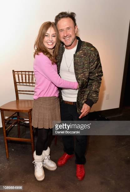 Tonya Cornelisse and David Arquette attend the Vulture Spot during Sundance Film Festival on January 26 2019 in Park City Utah