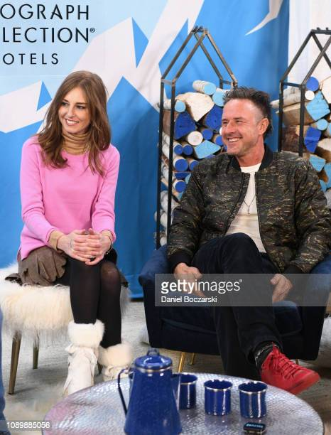 Tonya Cornelisse and David Arquette attends the Vulture Spot during Sundance Film Festival on January 26 2019 in Park City Utah
