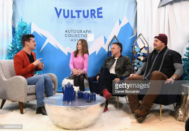 Tonya Cornelisse David Arquette and Max Adler attend the Vulture Spot during Sundance Film Festival on January 26 2019 in Park City Utah