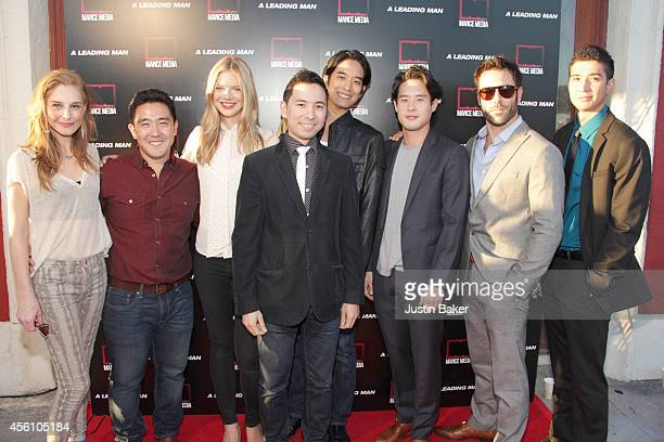 Tonya Cornelisse Kenzo Lee Kate Miner Steven J Kung Jack Yang Raymond Lee Coby Ryan McLaughlin and Sam Marra attend A Leading Man Los Angeles...