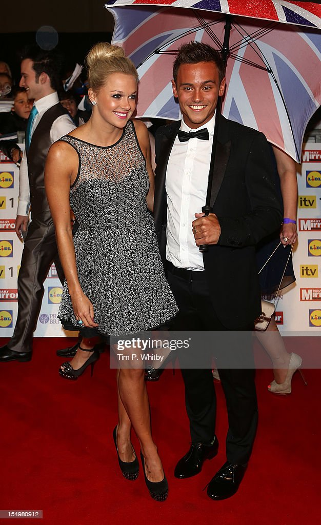 Tonya Couch and Tom Daley (R) attend the Pride Of Britain awards at the Grosvenor House Hotel, on October 29, 2012 in London, England.