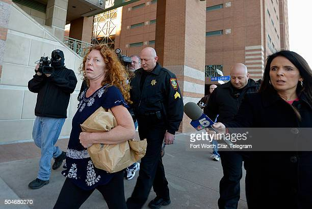 Tonya Couch escorted by two Sheriff's deputies was released from the Tarrant County Jail this morning and taken to the County Adult Probation office...