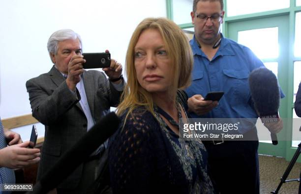 Tonya Couch leaves a hearing before Judge Wayne Salvant in Criminal District Court No 2 on June 29 in Fort Worth Texas