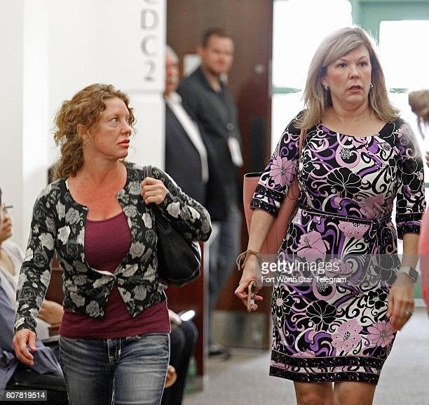 Tonya Couch left mother of affluenza teen Ethan Couch leaves court with attorney Stephanie Patten after making a brief appearance before Criminal...