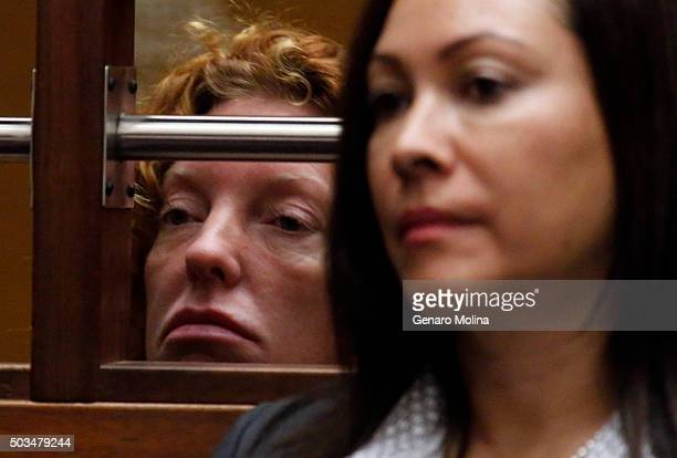 Tonya Couch mother of affluenza teen Ethan Couch left attends her extradition hearing with attorney Sonia PerezChaisson in Department 30 Criminal...