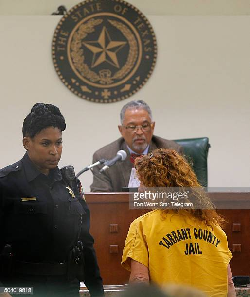 Tonya Couch mother of Ethan Couch appears before state District Judge Wayne Salvant on Jan 8 2016 in Fort Worth Texas