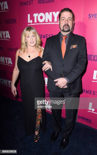 Tonya Harding and Joseph Jens Price attend NEON and 30WEST Present the Los Angeles Premiere of I Tonya Supported By Svedka on December 5 2017 in Los...