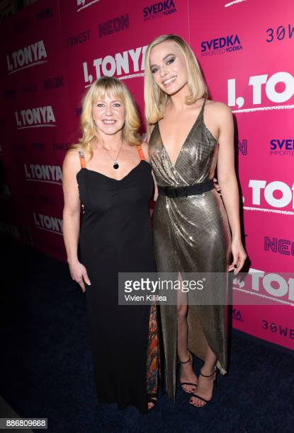 Tonya Harding and Margot Robbie attend NEON and 30WEST Present the Los Angeles Premiere of 'I Tonya' Supported By Svedka on December 5 2017 in Los...