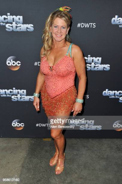 "Tonya Harding attends ABC's ""Dancing With The Stars: Athletes"" Season 26 semifinal show on May 14, 2018 in Los Angeles, California."