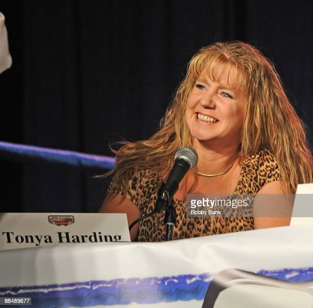 Tonya Harding attends the opening weekend of Smokin' Joe Frazier's Sportzbox at Bally's Atlantic City on June 13 2009 in Atlantic City New Jersey