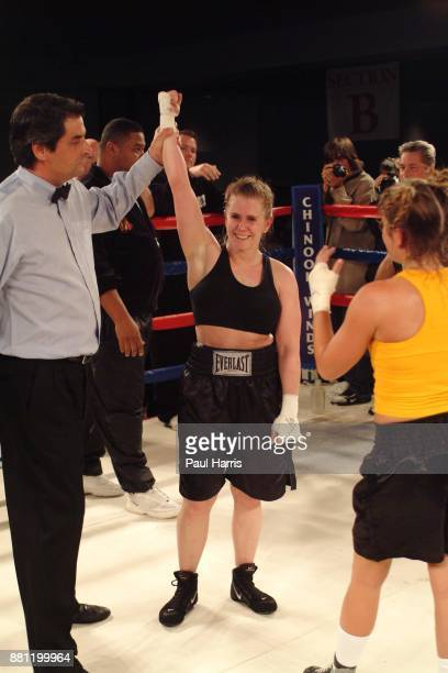 "Tonya Harding ex world-class ice skater now calls herself ""America's Bad Girl "". She won her third fight in a decision against 24 year-old mother of..."