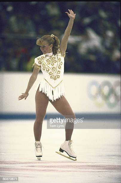 USA Tonya Harding in action alone