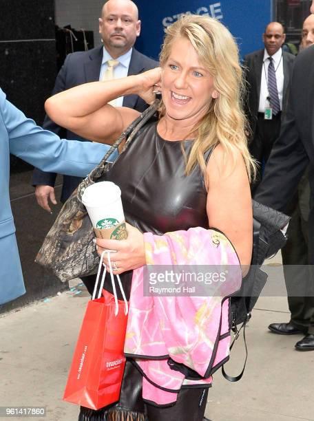 Tonya Harding is seen leaving Good Morning America on May 22 2018 in New York City