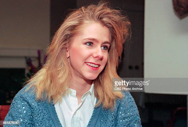 Tonya Harding sits for an interview in Portland OR for the program 'Eye to Eye with Connie Chung' Image dated February 9 1994