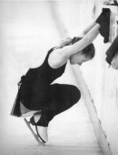 Tonya harding takes a breather along the boards after falling down a picture id174490276?s=170x170
