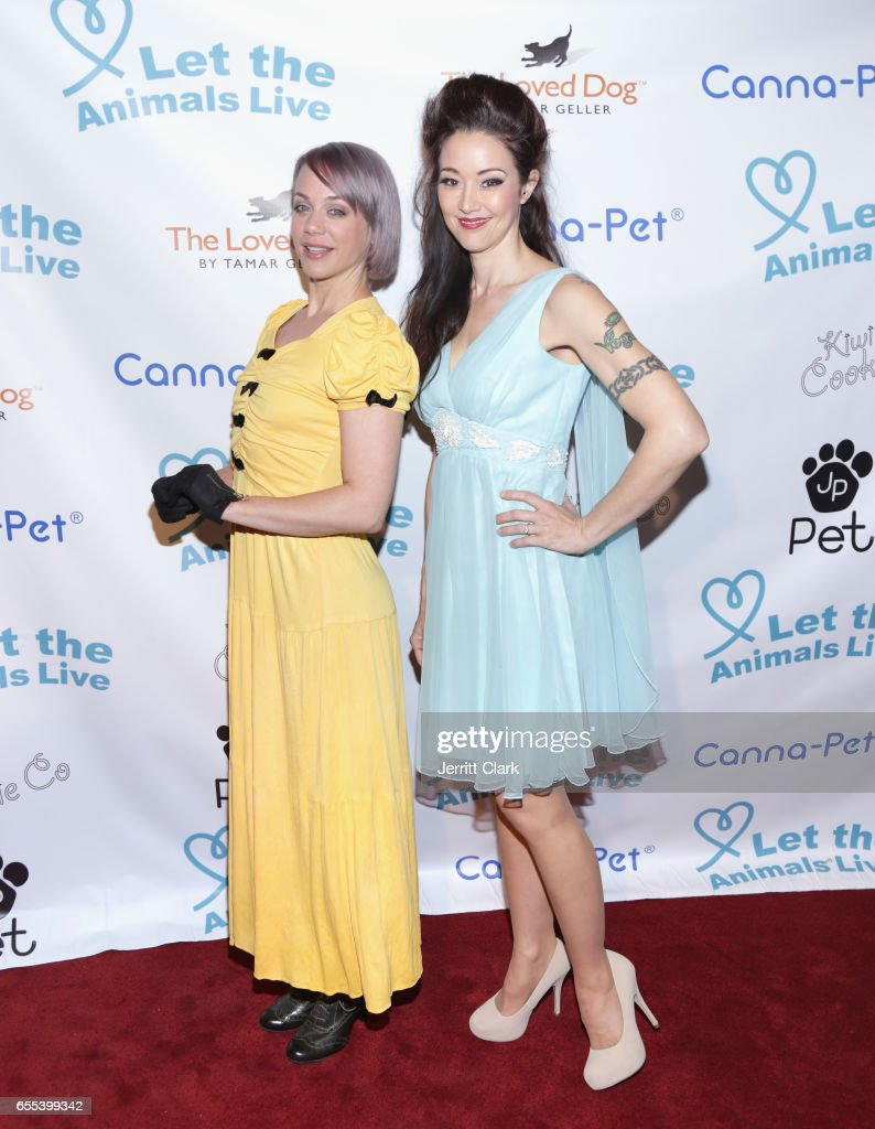 Tonya Kay and Monica Kay attends the Let The Animals Live Gala at The Olympic Collection Banquet & Conference Center on March 19, 2017 in Los Angeles, California.