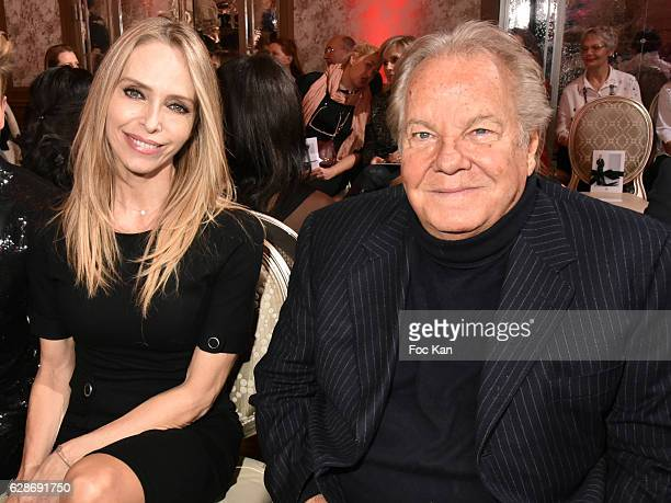 Tonya Kinzinger and Massimo Gargia attend Patrick Boffa 2017 Collection Fashion Show at Plaza Athenee on December 8 2016 in Paris France