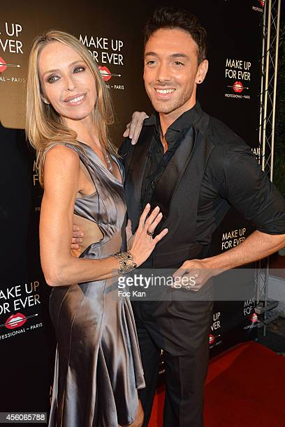 Tonya Kinzinger and Maxime Dereymez attend the show 'The Art Of Illusion' at Palais De Tokyo on September 24 2014 in Paris France