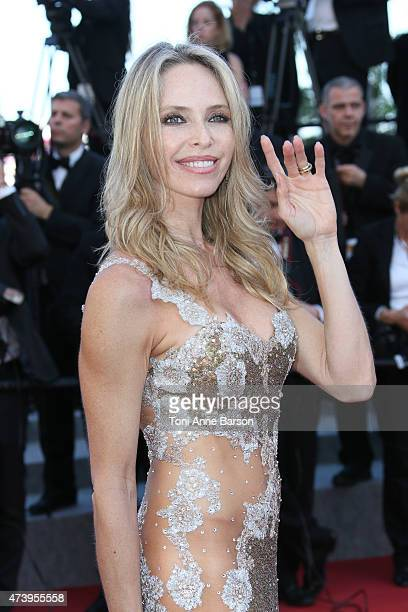 Tonya Kinzinger attends the 'Inside Out' premiere during the 68th annual Cannes Film Festival on May 18 2015 in Cannes France