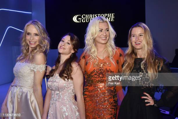 Tonya Kinzinger Jade Geropp Katrina Patchett and Mon Rovi attend the Christophe Guillarme show as part of the Paris Fashion Week Womenswear...