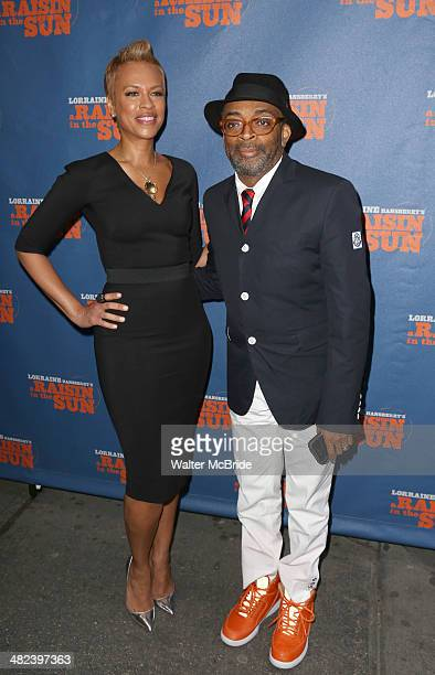 Tonya Lee and Spike Lee attend 'A Raisin In The Sun' Broadway Opening Night>> at The Ethel Barrymore Theatre on April 3 2014 in New York City