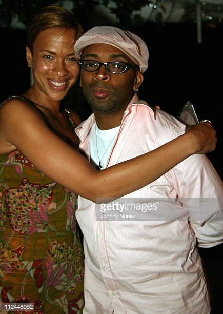 Tonya Lewis and Spike Lee during Tonya Lewis Lee and Crystal McCrary Anthony's 'Gotham Diaries' Book Release Party at Hudson Hotel in New York City...
